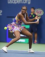 FLUSHING NY- SEPTEMBER 01: Venus Williams Vs Julia Goerges at the USTA Billie Jean King National Tennis Center on September 1, 2016 in Flushing, Queens. Credit: mpi04/MediaPunch