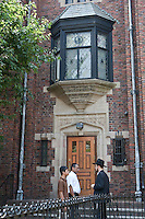 The central headquarters of the Chabad-Lubavitch Hasidic movement is pictured in the Crown Heights neighborhood of the the New York City borough of Brooklyn, NY, Monday August 1, 2011. One of the world's larger and best-known Hasidic movements, Chabad-Lubavitch is a Hasidic movement in Orthodox Judaism.