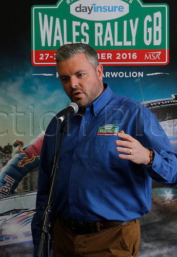 22.09.2016. Llyn Brenig Visitor Centre, Cerrigydrudion, Wales. Wales Rally GB Media Day. Ian Campbell, Clerk of Course for this year's Rally.