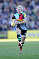 Charlie Walker of Harlequins in action during the Aviva Premiership Rugby match between Harlequins and London Irish at The Twickenham Stoop on Saturday 7th March 2015 (Photo by Rob Munro)