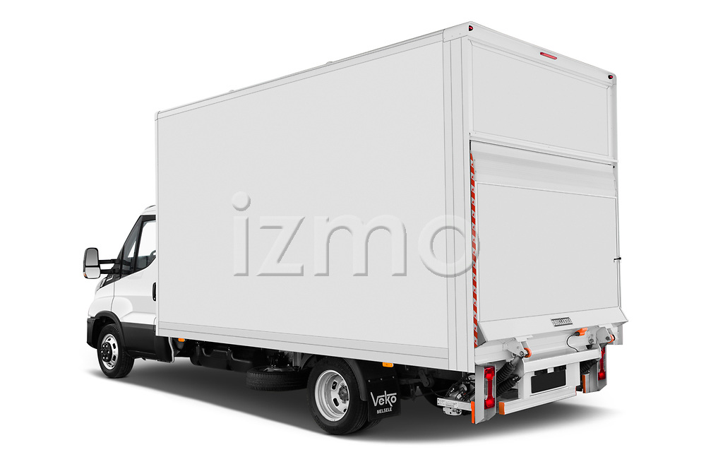 Car pictures of rear three quarter view of 2020 Iveco Daily C 2 Door Van Box Angular Rear