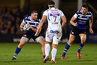 Henry Thomas of Bath Rugby in possession. Gallagher Premiership match, between Bath Rugby and Exeter Chiefs on October 5, 2018 at the Recreation Ground in Bath, England. Photo by: Patrick Khachfe / Onside Images