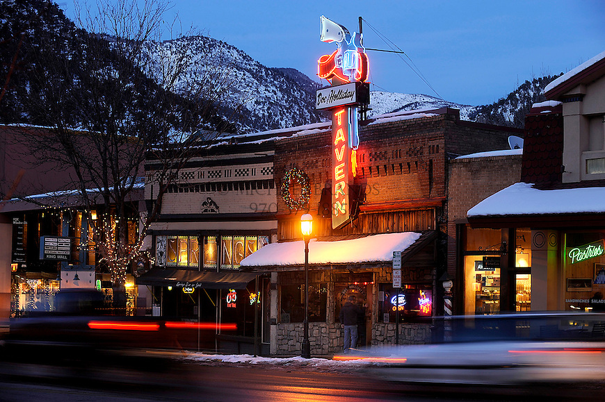 The Doc Holliday Tavern along Grand Avenue in Glenwood Springs, CO. Michael Brands for The New York Times.