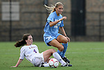 18 September 2009: LSU's Allysha Chapman (CAN) (4) and North Carolina's Kristi Eveland (32). The University of North Carolina Tar Heels defeated the Louisiana State University Tigers 1-0 at Koskinen Stadium in Durham, North Carolina in an NCAA Division I Women's college soccer game.
