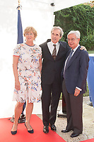 French Ambassador in Spain  Yves Saint-Geours (C) with his wife Jocilene (L) ;Rafael Anson Oliart