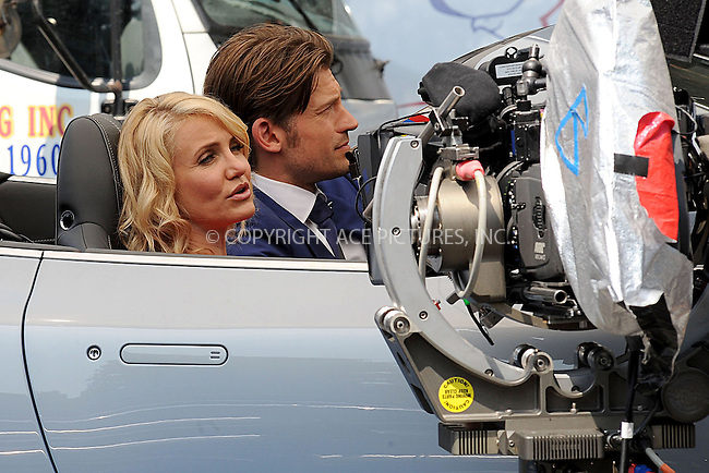 WWW.ACEPIXS.COM<br /> June 25, 2013, New York City<br /> <br /> Cameron Diaz and Nikolaj Coster Waldau on the film set for The Other Woman on June 25, 2013 in New York City.<br /> <br /> By Line: Kristin Callahan/ACE Pictures<br /> ACE Pictures, Inc.<br /> tel: 646 769 0430<br /> Email: info@acepixs.com<br /> www.acepixs.com<br /> Copyright:<br /> Kristin Callahan/ACE Pictures