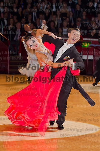 Chao Yang & Yiling Tan from China perform their dance during the amateur ballroom competition of the International Championships held in Royal Albert Hall, London, United Kingdom. Thursday, 21. October 2010. ATTILA VOLGYI