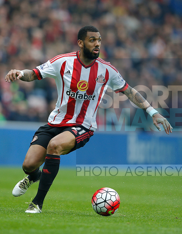 Yann M?Vila of Sunderland during the Barclays Premier League match at the Stadium of Light, Sunderland. Photo credit should read: Simon Bellis/Sportimage