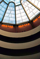 F.L. Wright: Guggenheim Museum. Detail.  Photo '88.