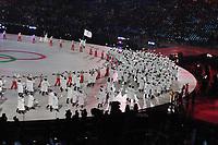 OLYMPIC GAMES: PYEONGCHANG: 09-02-2018, PyeongChang Olympic Stadium, Olympic Games, Opening Ceremony, Team Korea, ©photo Martin de Jong
