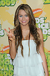 Miley Cyrus arriving at the 2009 Kids Choice Awards held at UCLA's Pauley Pavilion Westwood, Ca. March 28, 2009. Fitzroy Barrett
