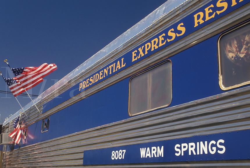 restaurant, train, Warm Springs, FDR, Georgia, GA, Presidential Express Restaurant in Warm Springs.