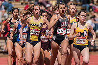 Stanford, CA - March 29, 2019: Stanford Invitational 44th Stanford Invitational Track and Field meet at Cobb Track and Angell Field