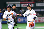 (L to R) .Nobuhiro Matsuda (JPN), .Kenta Maeda (JPN), .MARCH 3, 2013 - WBC : .2013 World Baseball Classic .1st Round Pool A .between Japan 5-2 China .at Yafuoku Dome, Fukuoka, Japan. .(Photo by YUTAKA/AFLO SPORT)