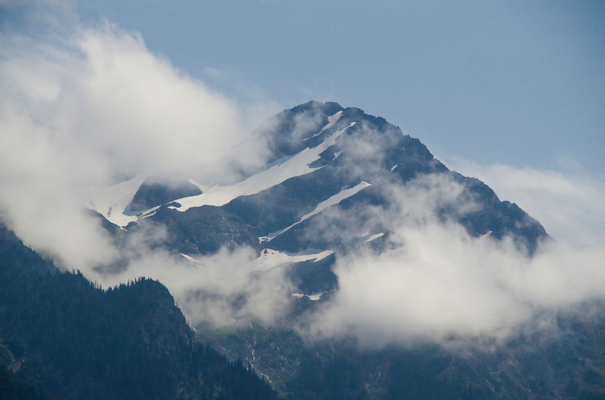 North Cascades Peak from Ross Lake National Recreation Area, North Cascades, Washington, US