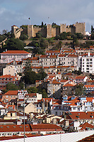 Castlo de Sao Jorge fortress. City view. Lisbon, Portugal