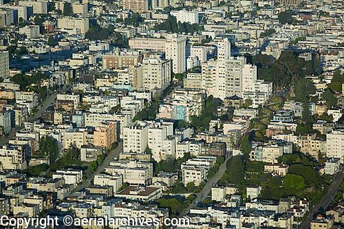 aerial photograph Russian Hill residential neighborhood San Francisco California
