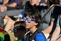 Seattle, WA - Friday June 23, 2017: A Reign fan during a regular season National Women's Soccer League (NWSL) match between the Seattle Reign FC and FC Kansas City at Memorial Stadium.