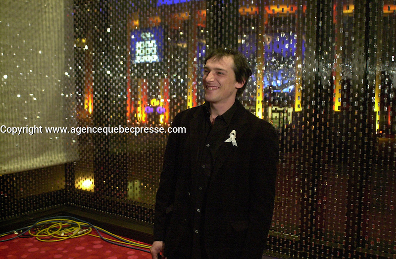 Guy Belanger at the Jutras Gala,  February 22, 2004. Photo (c) 2004 P Roussel