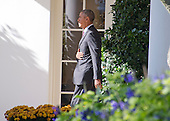 United States President Barack Obama departs the White House in Washington, DC to make campaign stops in Fayetteville and Charlotte, North Carolina for Democratic presidential candidate Hillary Clinton on Friday, November 4, 2016.  He will return late tonight.<br /> Credit: Ron Sachs / CNP