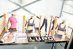 Lupo sports wear on display during the CURVENY Designer Lingerie & Swim show, at the Jacob Javits Convention Center, August 3, 2010.