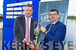 Chairman Kerry County Comm, Tim Murphy with Jim Garvey of Garvey Supervalu, sponsors of the Senior Co Hurling Championship