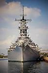 The USS Missouri at Pearl Harbor, Hawaii
