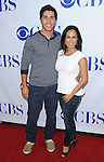 Chris Smith and wife arriving at CBS first annual National TV Dinner Night, held at CBS Studios in Los Angeles on September 10, 2013