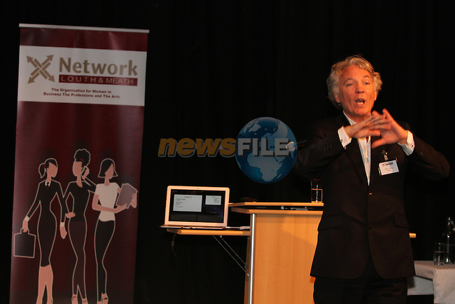 Noel Toolan, International Marketing Change Agent speaking at the Network Ireland National Conference and Business Women of the Year Awards 2012 - Friday 28th September in Drogheda, Co. Louth..Photo NEWSFILE/Jenny Matthews.