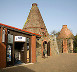 Kilns and gift shop, Oatlands visitor centre, St Sampson, Guernsey