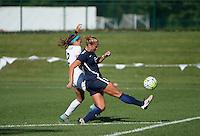 Kansas City, MO - Sunday September 04, 2016: Shea Groom, Kristin Grubka during a regular season National Women's Soccer League (NWSL) match between FC Kansas City and the Sky Blue FC at Swope Soccer Village.