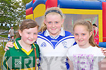 Emma Regan, Aiva Herbert and Gemma Kearney enjoying the Castleisland Desmond's family fun day on Sunday
