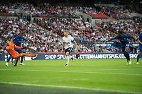 Chelsea's Michy Batshuayi no 23 scoring own goal during the Premier League match between Tottenham Hotspur and Chelsea at Wembley Stadium, London, England on 20 August 2017. Photo by Andrew Aleksiejczuk / PRiME Media Images.