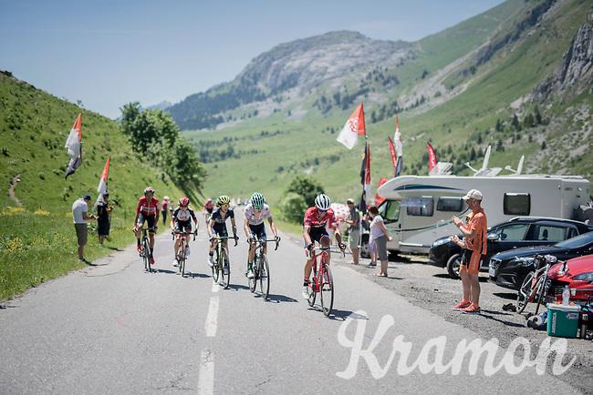 Alberto Contador (ESP/Trek-Segafredo) setting a fierce tempo up the Col de la Colombi&egrave;re<br /> <br /> 69th Crit&eacute;rium du Dauphin&eacute; 2017<br /> Stage 8: Albertville &gt; Plateau de Solaison (115km)