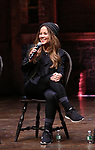 Elizabeth Judd during their #EduHam Q & Aon January 31, 2018 at the Richard Rodgers Theatre in New York City.