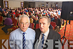 Front runners of 'Citizens Against Charges' Mike Kennedy(secretary) and Pat O'Donovan(Chairperson) pictured last Monday evening where large crowds gathered for a special public meeting held in The Devon Inn, Templeglantine, to highlight peoples discontent with proposed government charges and cutbacks.
