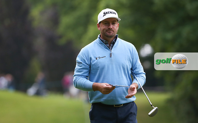 Graeme McDowell (NIR) during Round Two of the 2016 BMW PGA Championship over the West Course at Wentworth, Virginia Water, London. 27/05/2016. Picture: Golffile | David Lloyd. <br /> <br /> All photo usage must display a mandatory copyright credit to &copy; Golffile | David Lloyd.