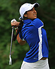 Malini Rudra of Syosset tees off on the 11th Hole of Bethpage State Park's Yellow Course during the second round of the NYSPHSAA girls golf state championship on Sunday, June 3, 2018.