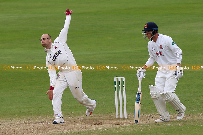Jack Leach in bowling action for Somerset during Somerset CCC vs Essex CCC, Specsavers County Championship Division 1 Cricket at The Cooper Associates County Ground on 16th April 2017