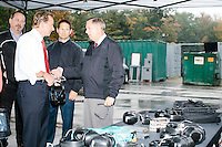 Republican presidential candidate and South Carolina senator Lindsey Graham speaks with a journalist after firing Sig Sauer weapons during a campaign stop at Sig Sauer Academy in Epping, New Hampshire. Sig Sauer Academy is a training facility for domestic and international military and police forces.