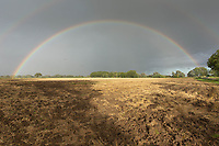 Rainbow over a stubble field<br /> ©Tim Scrivener Photographer 07850 303986<br />      ....Covering Agriculture In The UK....