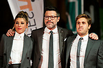 Valeria Ros, Queque and Pablo Ibarburu attends to orange carpet of new comedian schedule of #0 during FestVal in Vitoria, Spain. September 06, 2018. (ALTERPHOTOS/Borja B.Hojas)
