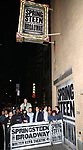 Theatre Marquee and atmosphere at the Walter Kerr Theater on the official opening night  performance of 'Springsteen On Broadway' on October 12, 2017 in New York City.