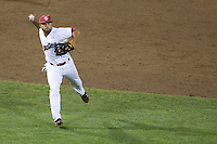 South Carolina 3b Adrian Morales in Game Two of the NCAA Division One Men's College World Series Finals on June 29th, 2010 at Johnny Rosenblatt Stadium in Omaha, Nebraska.  (Photo by Andrew Woolley / Four Seam Images)