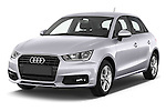 2015 Audi A1 Sportback 5 Door Hatchback Angular Front stock photos of front three quarter view