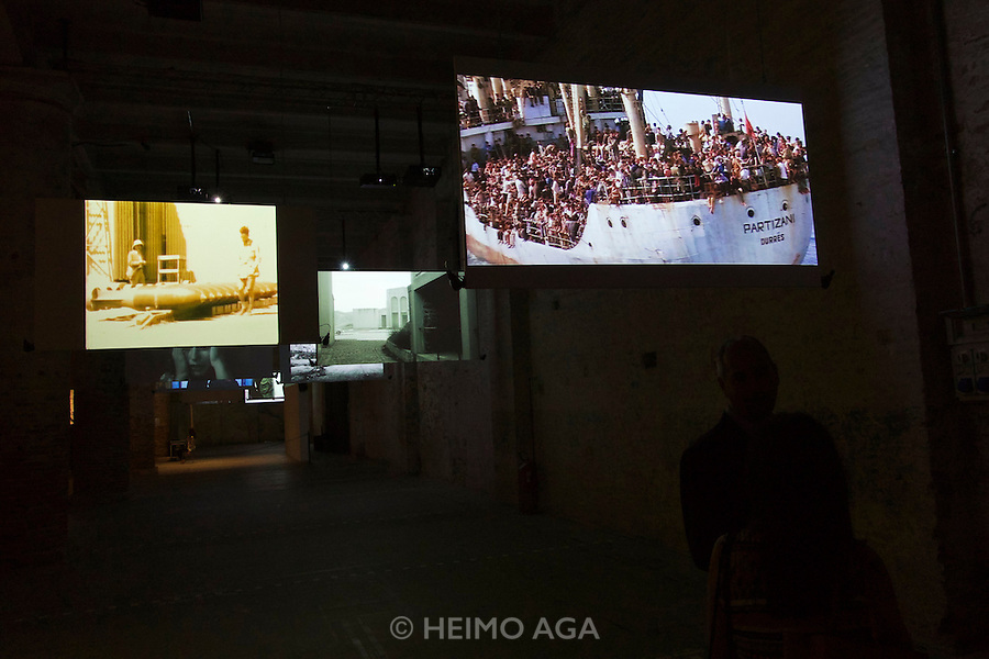 Venice, Italy. 14th Architecture Biennale 2014, &quot;fundamentals&quot;.<br /> Arsenale. &quot;monditalia, a scan&quot;.<br /> ana dana bero&scaron;, &quot;intermundia lampedusa&quot;