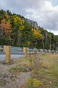 Crawford Notch  State park - Elephant Head during the autumn months in the White Mountains, New Hampshire USA.
