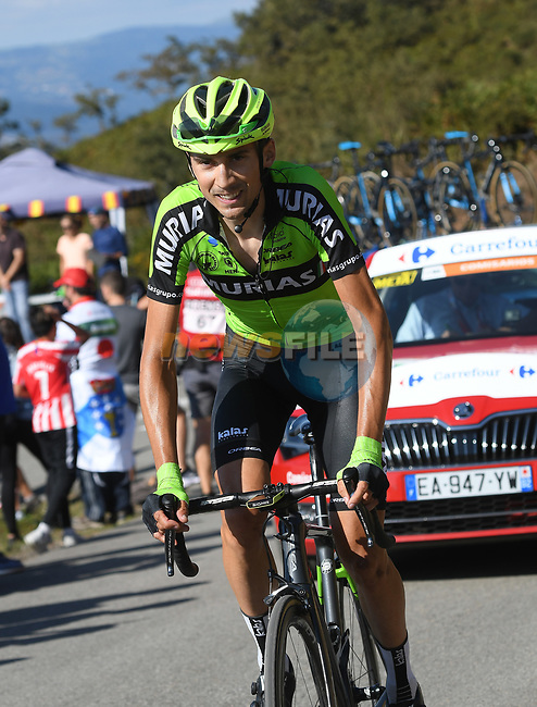 Oscar Rodriguez (ESP) Euskadi-Murias on the final climb of Stage 15 of La Vuelta 2019  running 154.4km from Tineo to Santuario del Acebo, Spain. 8th September 2019.<br /> Picture: Karlis | Cyclefile<br /> <br /> All photos usage must carry mandatory copyright credit (© Cyclefile | Karlis)