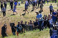 Tommy Fleetwood (ENG) in the rough on the 17th during Round 4 of the Betfred British Masters 2019 at Hillside Golf Club, Southport, Lancashire, England. 12/05/19<br /> <br /> Picture: Thos Caffrey / Golffile<br /> <br /> All photos usage must carry mandatory copyright credit (© Golffile | Thos Caffrey)