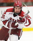 Luke Greiner (Harvard - 26) - The Harvard University Crimson defeated the visiting Clarkson University Golden Knights 3-2 on Harvard's senior night on Saturday, February 25, 2012, at Bright Hockey Center in Cambridge, Massachusetts.